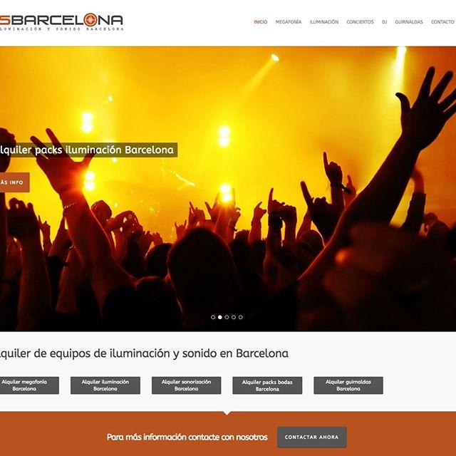 Diseño web empresa iluminación y sonido en Barcelona