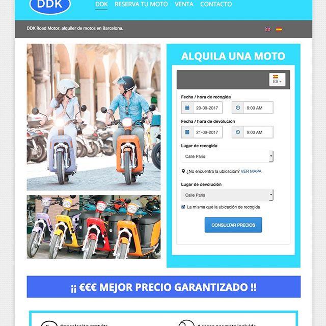 diseño web alquiler de motos en barcelona