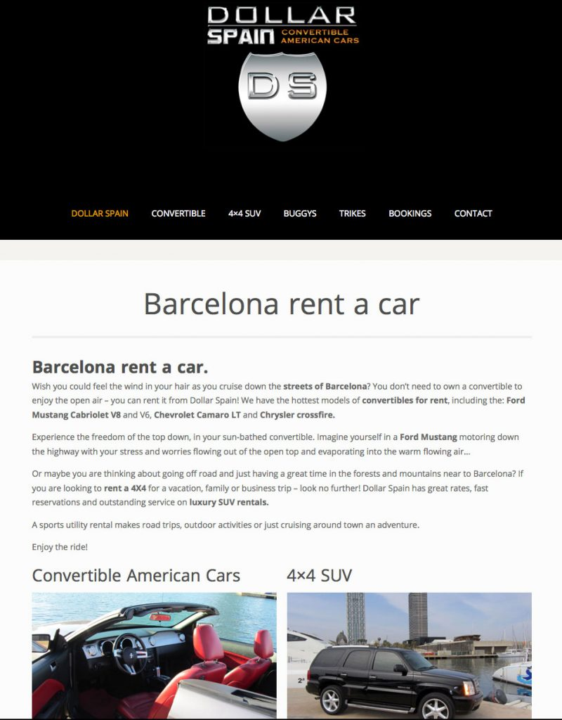 RENT A CAR IN BARCELONA