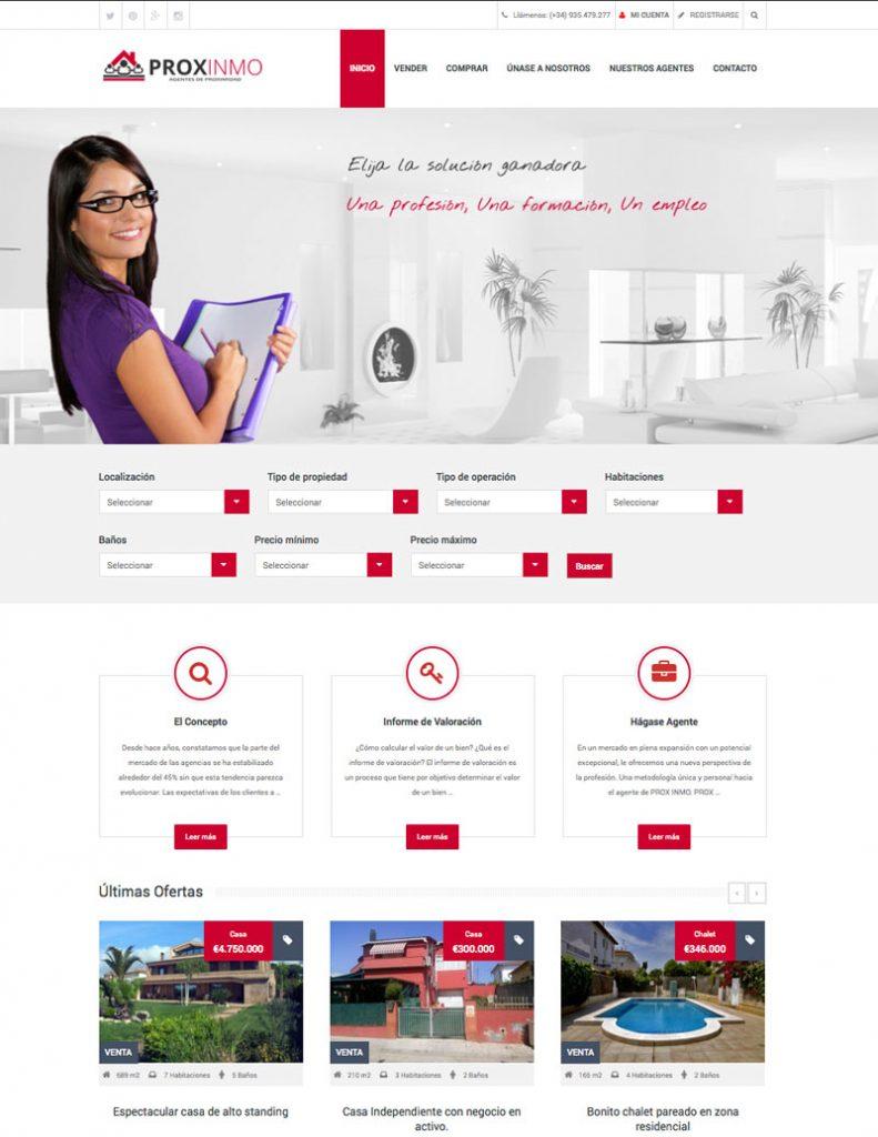 desarrollo web inmobiliaria