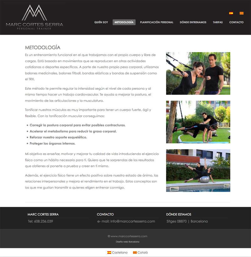 diseño web entrenador personal