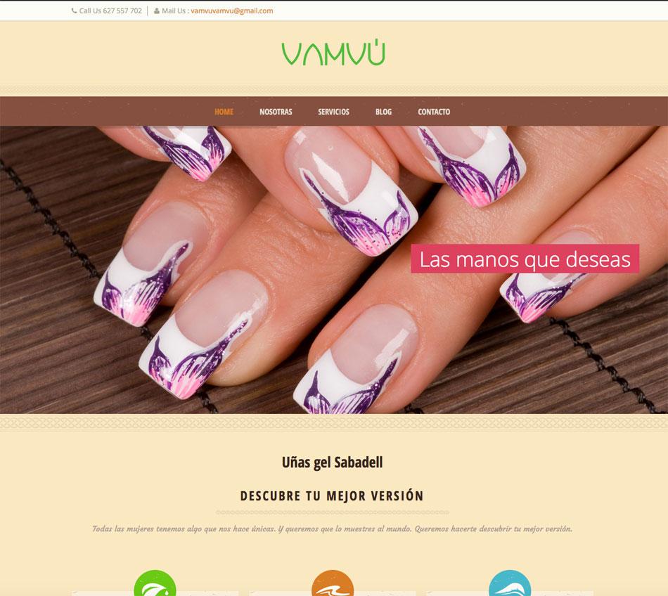 Diseño web centro de belleza
