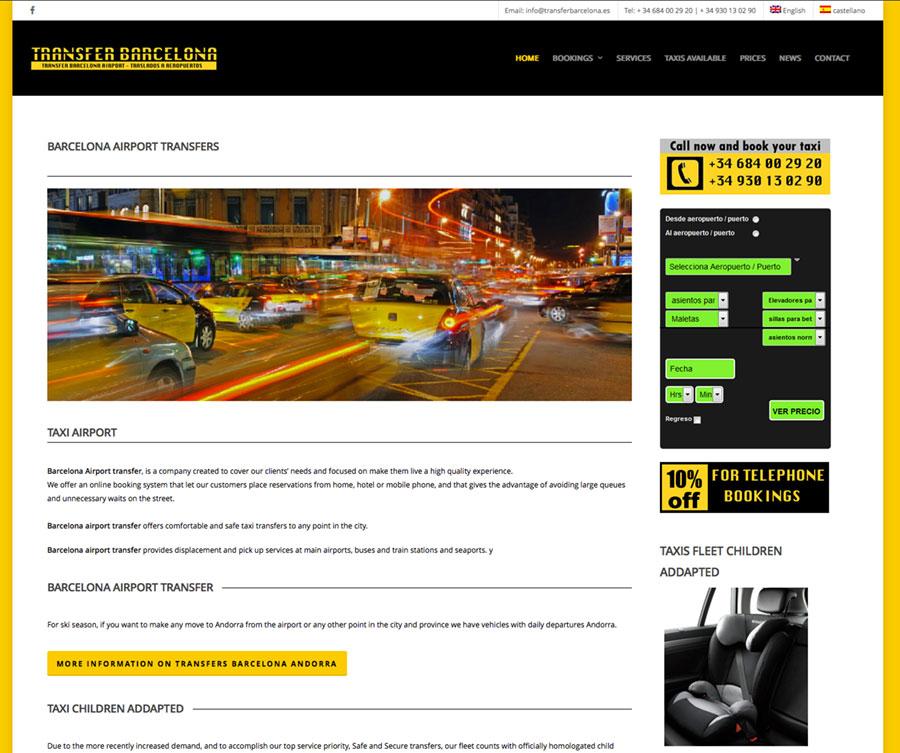 diseño web traslados aeropuerto