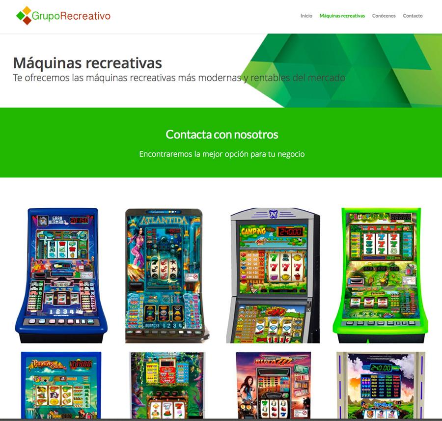 Diseño web máquinas recreativas