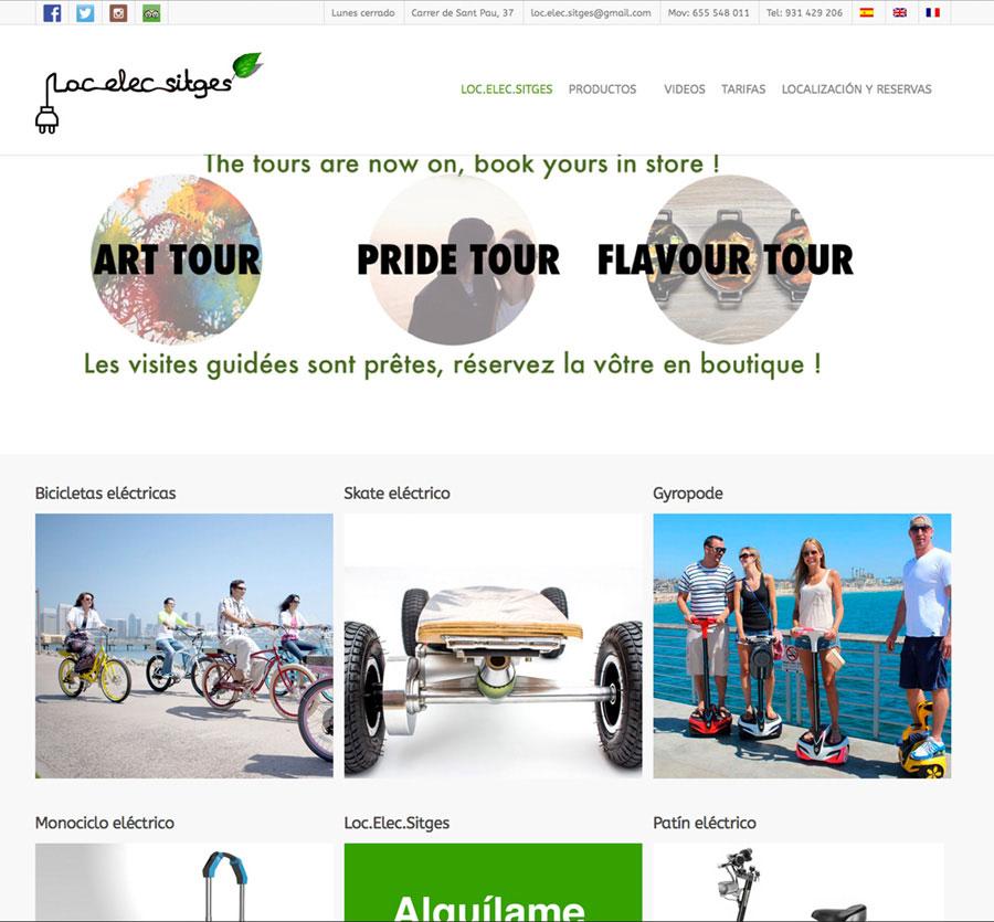 Diseño web vehículos eléctricos