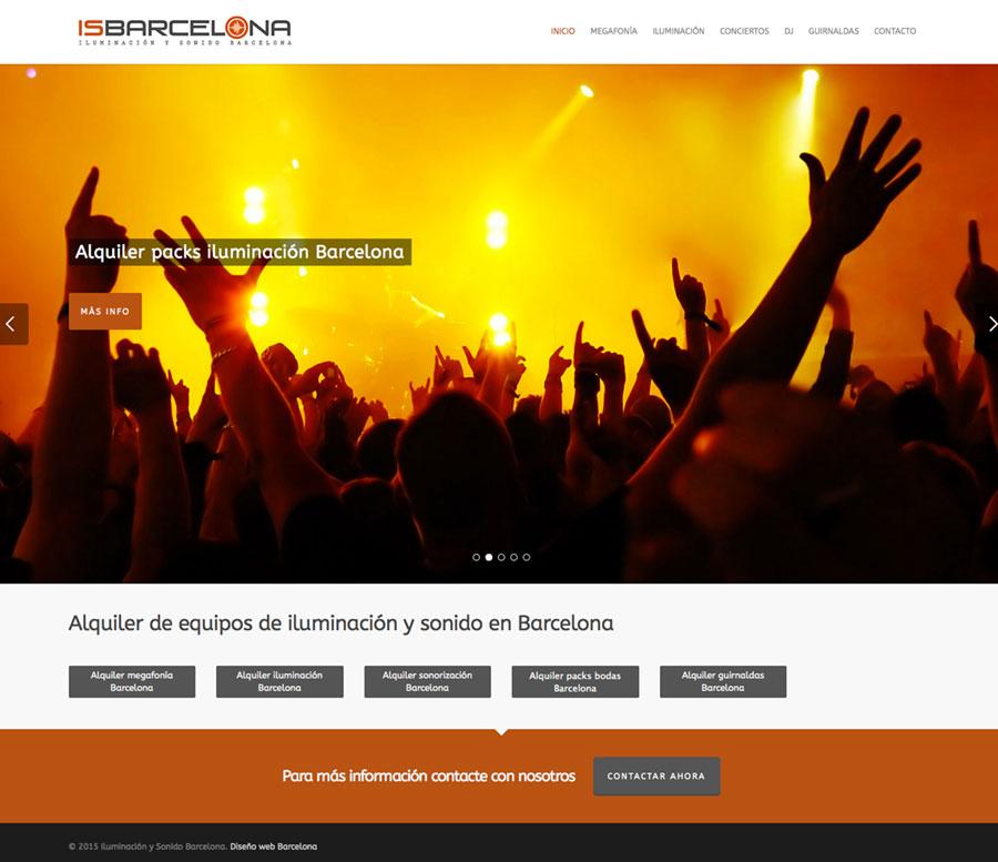 Diseño web iluminación y sonido