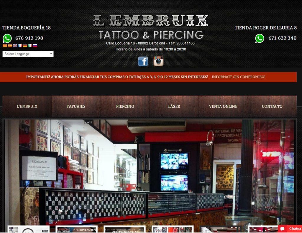 diseño web tatuajes