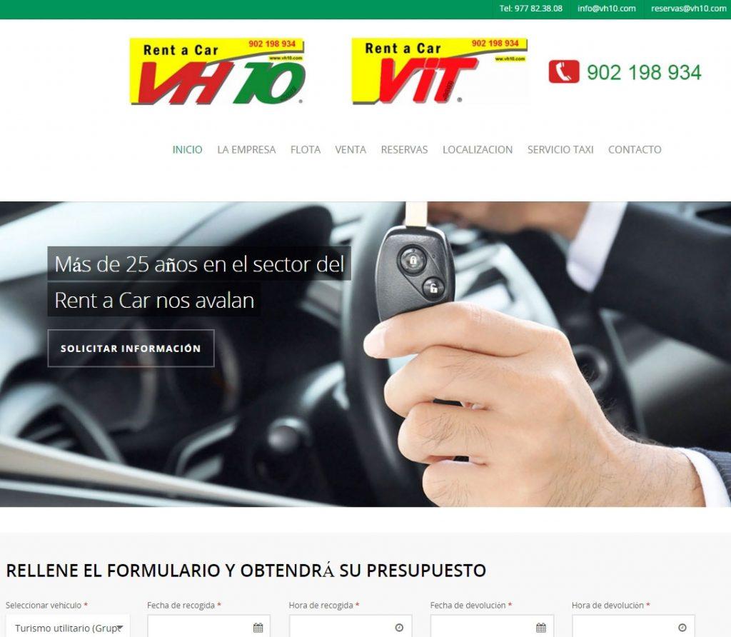 Diseño web alquiler vehículos