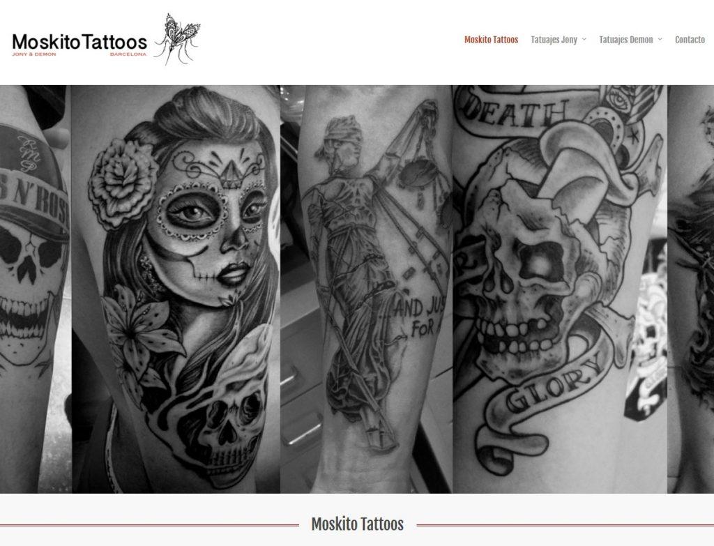 Diseño web tatuajes en Barcelona