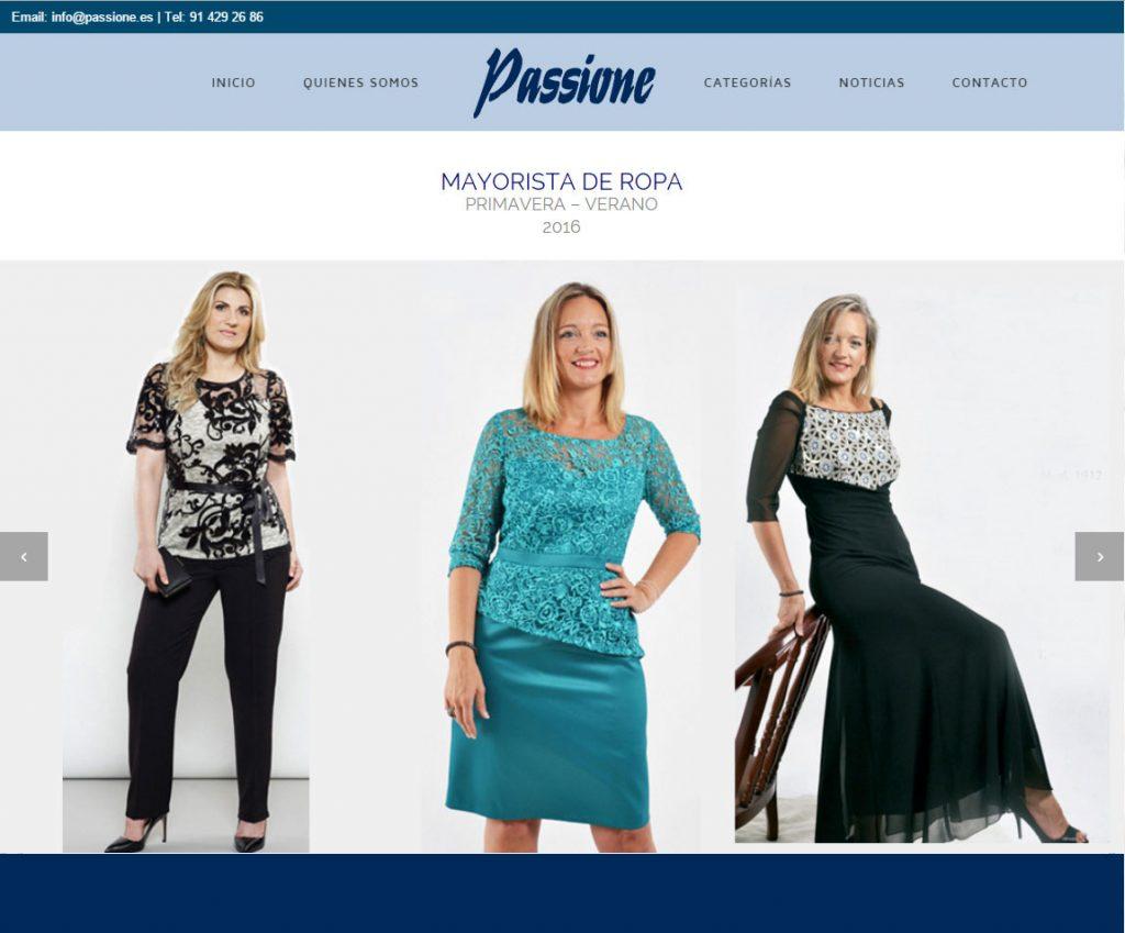 Diseño web moda tallas grandes