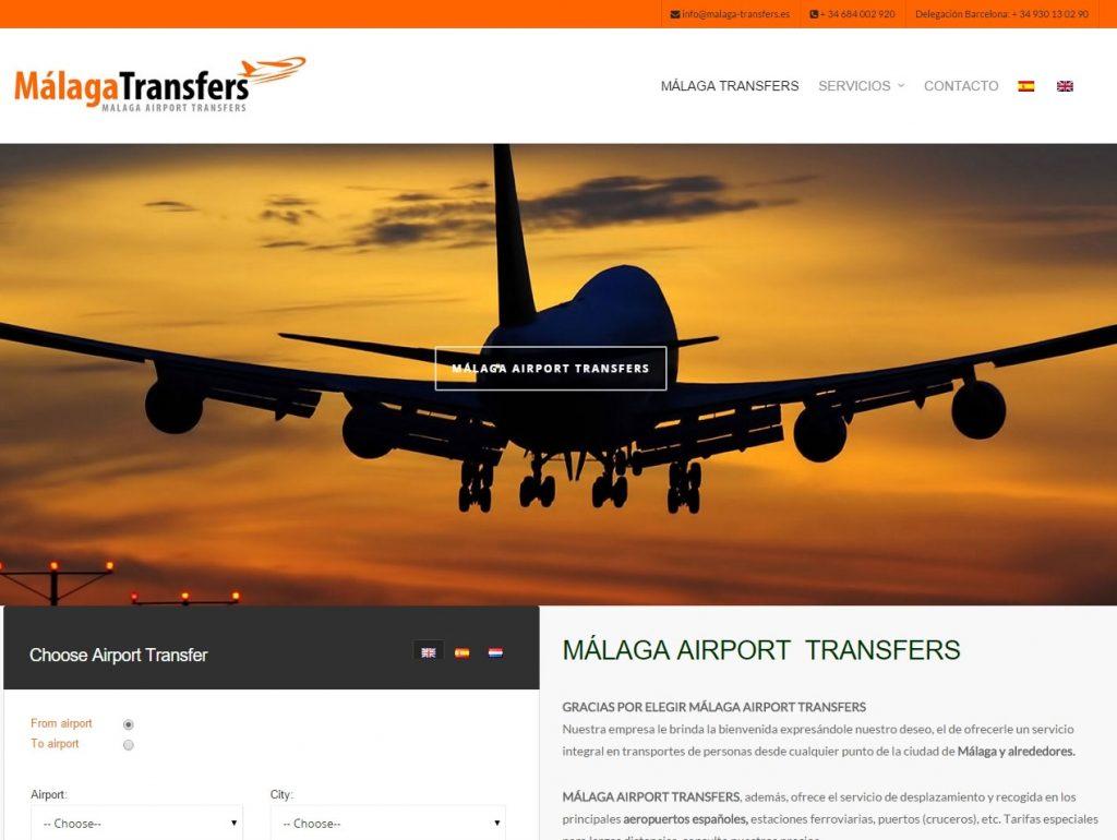 Diseño web traslados Málaga