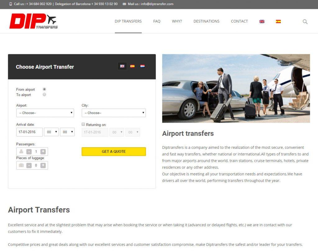 Diseño web transportes Barcelona