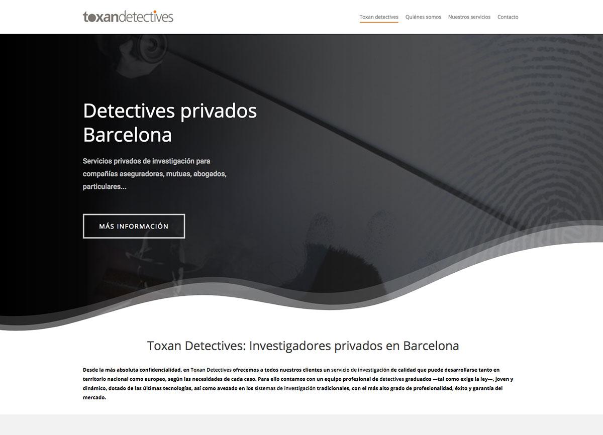 diseño página web detectives Barcelona