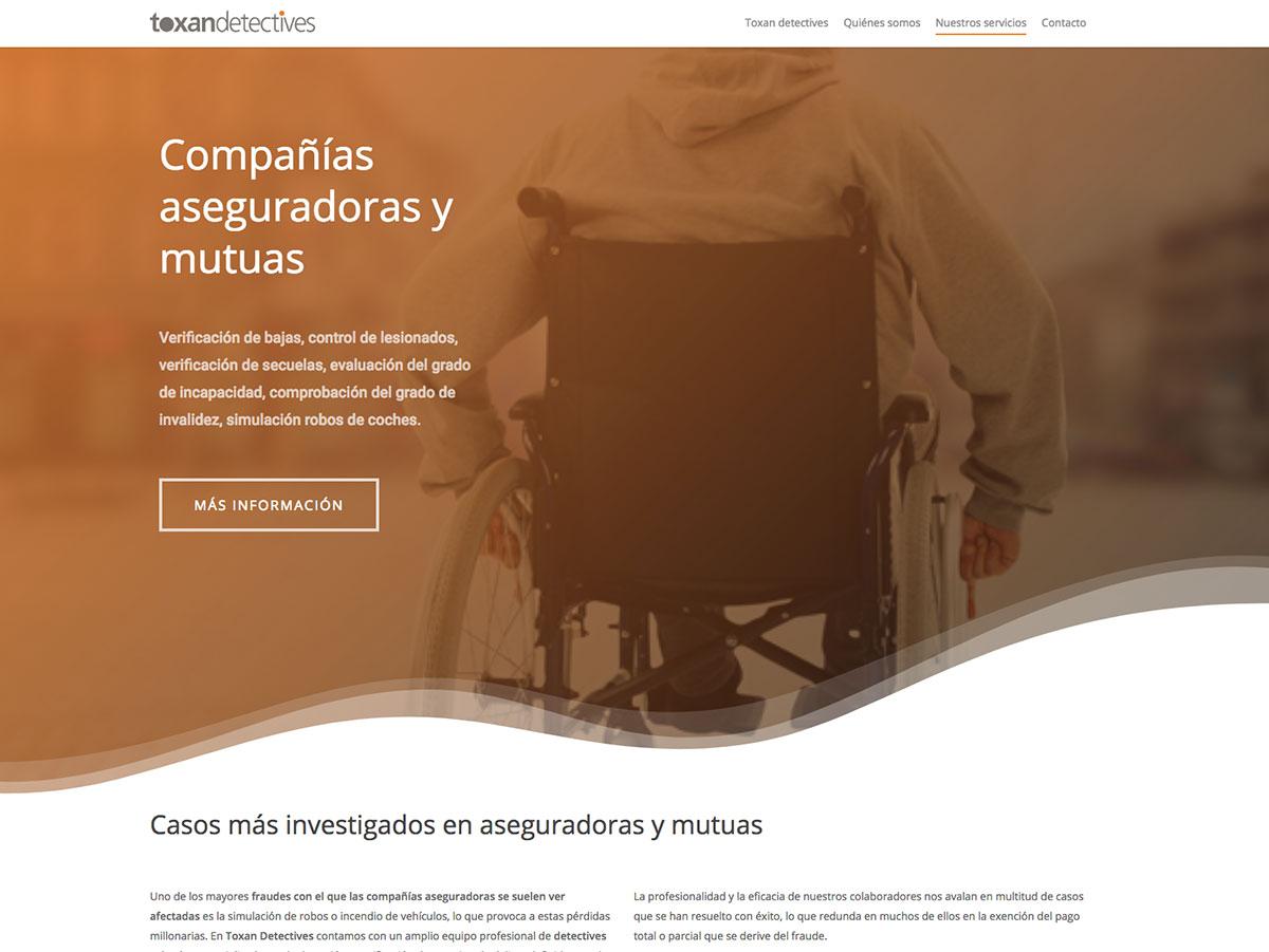 diseño web toxan detectives