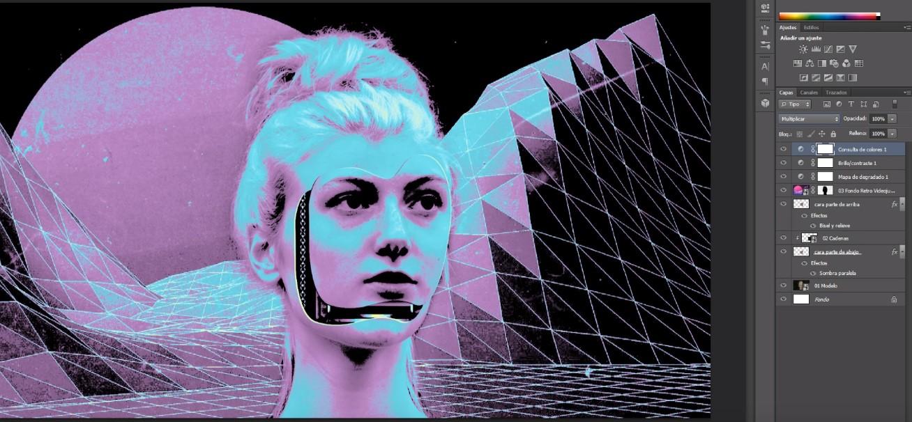 Cómo hacer efecto futurista cyberpunk en Photoshop - Kma Disseny