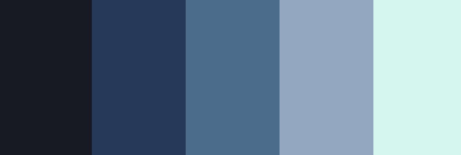 paleta de colores azul