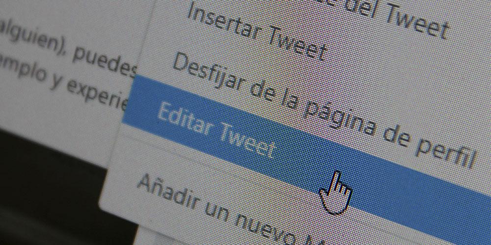 se puede editar tweets